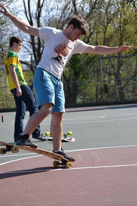 skateboarding in college