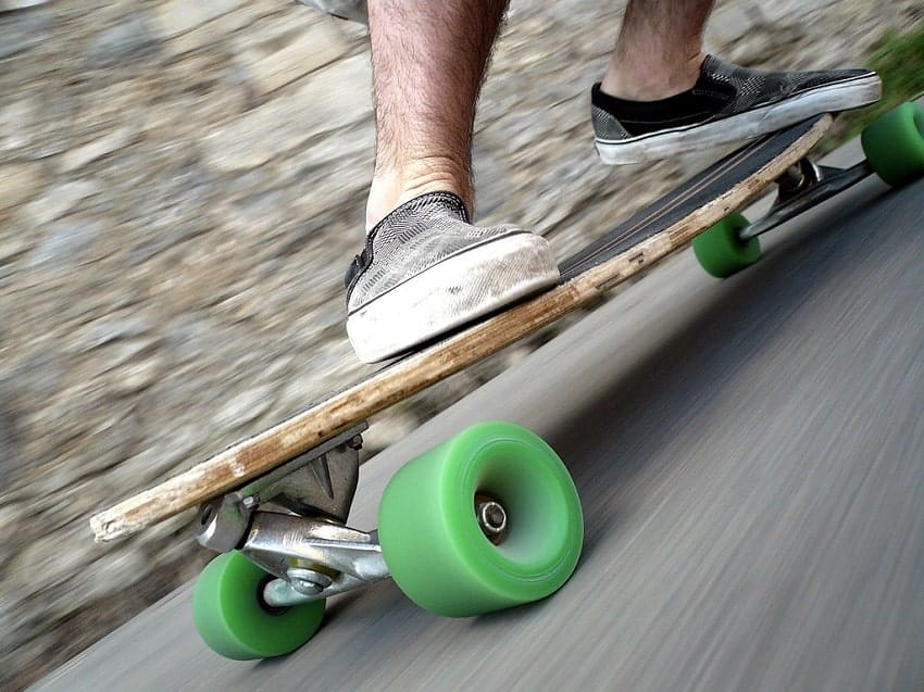 slowing down on a longboard