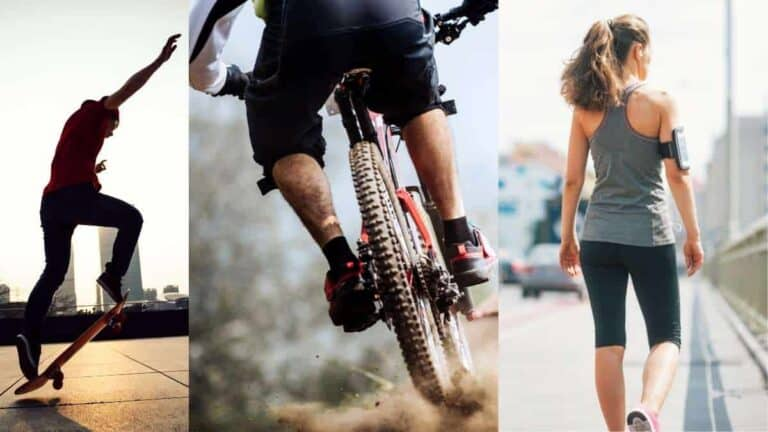 Skateboarding Vs Biking Vs Walking