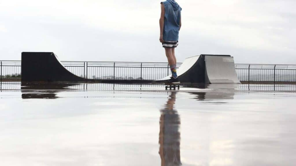 can you skateboard in the rain