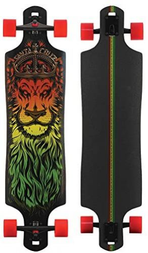 Santa Cruz Lion God Rasta Drop Thru Cruzer Freeride Longboard