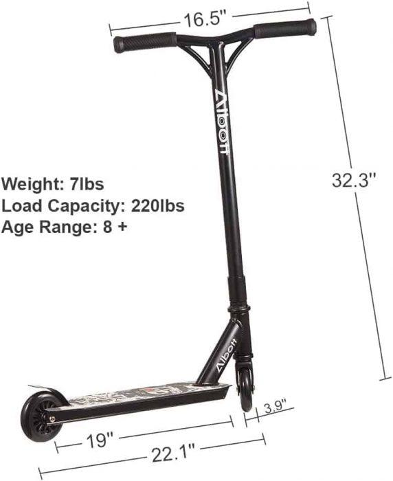 albott stunt scooter size