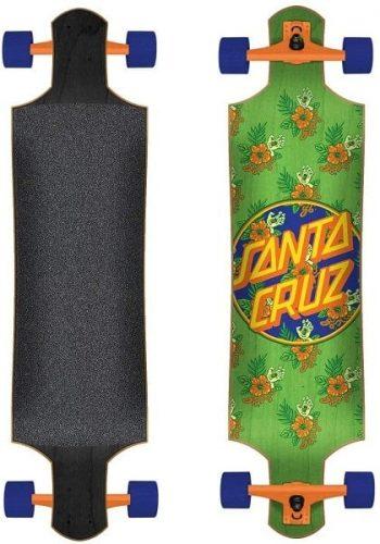 santa cruz vacation dot drop down longboard